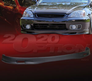 Sp Style Polyurethane Pu Front Bumper Lip Spoiler For 1999 2000 Honda Civic