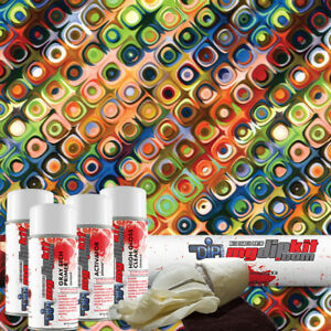 Hydrographic Film Kit Hydro Dipping Water Transfer Printing Retro Dd 514