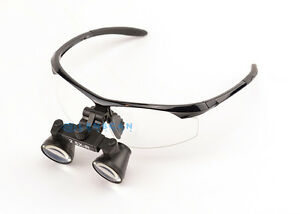 Extra Light Flip Up Dental Loupe Surgical Loupe 2 5x With Black Sporty Frame