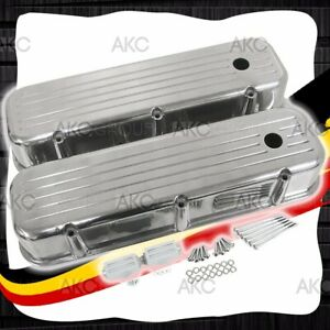 Ball Milled Aluminum Tall Valve Covers For 65 95 Chevy Bb 396 427 454 502
