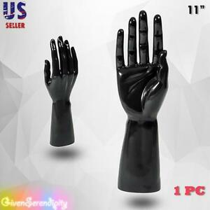 Male Mannequin Hand Display Jewelry Bracelet Ring Glove Stand Holder Black H 1