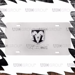 High Quality Stainless Steel 3d Official Dodge Logo License Plate For Universal