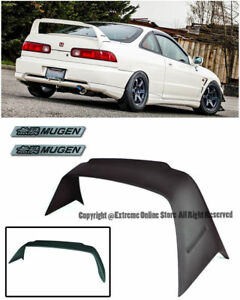 For 94 01 Acura Integra Dc2 Mugen Gen 1 Style Rear Spoiler Wing W Black Emblems