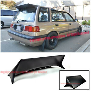 J Style Rear Roof Spoiler Wing Lip Kit Jdm For 88 91 Honda Civic Ee2 Ee4 Wagon