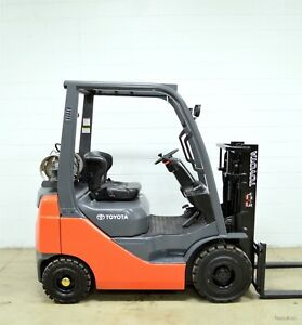 Clean 2010 Toyota 3000 Lb Lpg Pneumatic Forklift 3 000 Lb 8fgu15 Air Tires