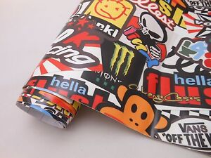 Gb Hellaflush Sticker Bomb Vinyl Film For Car Wrapping With Air Bubble Free