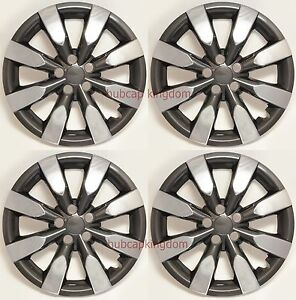 New Toyota Corolla Matrix 16 8 spoke Chrome Black Hubcaps Wheelcover Set