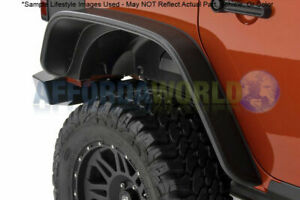 1987 1995 Jeep Wrangler Excluding Renegade Flat Style 2pc Rear Fender Flares Blk