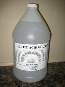 Acetic Acid Glacial 4 X 1 Gallon Poly Bottles Case