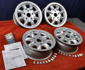 Porsche 911 356 Original Minilite 6 X 15 Wheels Rims Genuine Light Weight Race