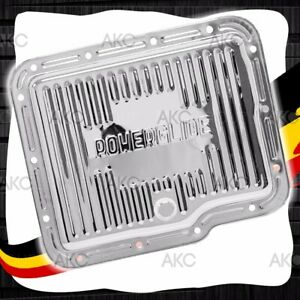 Chrome Steel Finned Stock Capacity Transmission Pan For Chevy Gm Powerglide