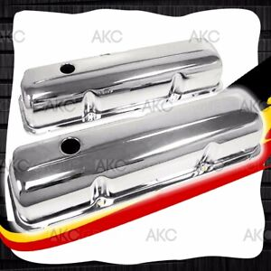 Chrome Steel Valve Covers For 57 76 Ford Big Block Fe 352 390 406 427 428