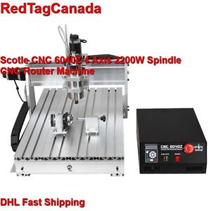 Scotle Cnc 6040z 2200w 4 Axis Spindle Mini Benchtop Router Machine Dhl Shipping