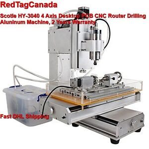Hy 3040 4 Axis Cnc Aluninum Router Machine For Drilling Milling 2 Yrs Warranty