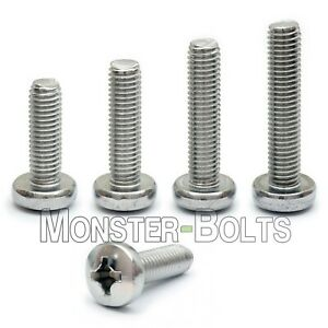M4 Stainless Steel Phillips Pan Head Machine Screws Din 7985a Metric A2 18 8