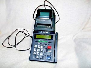 Linkpoint 3000 Credit Card Terminal W Printer power Adapter Used