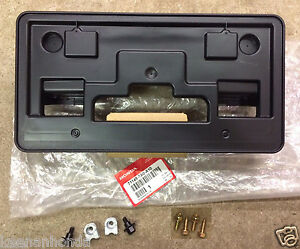 Genuine Oem Honda Accord 4dr Front License Plate Holder Kit 2011 2012 Bracket