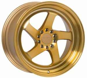 18x9 5 18x10 5 20 F1r F28 5x114 3 Gold Wheel Fit Rx7 Rx8 Supra 300zx Staggered