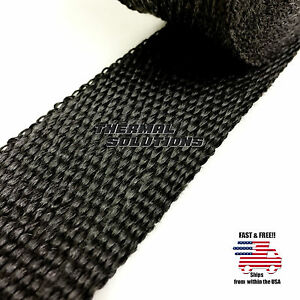 5ft 60 L 2 W Exhaust Header Turbo Manifold Pipe Black Heat Shield Wrap Tape