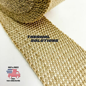 5ft 60 l 2 w Exhaust Header Turbo Manifold Pipe Tan Heat Shield Wrap Tape