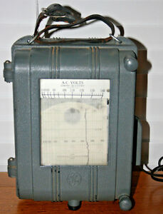 Vintage Ge General Electric Recording Voltmeter Type Cf 1 A c Volts