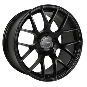 19x8 5 Enkei Raijin 5x114 3 35 Black Rims Fits Honda Accord 2008 2012