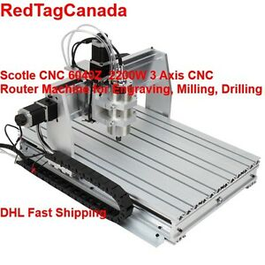Scotle Cnc 6040z 2200w 3 Axis Spindle Mini Benchtop Router Machine Dhl 2yrs Wrt