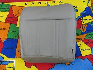 1997 98 Ford F 150 Lariat Pickup Driver Bottom Leather Seat Cover Med Gray