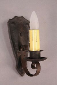 1 Of 4 1920s Simple Iron Sconce Lights Spanish Revival Tudor Mission 10002