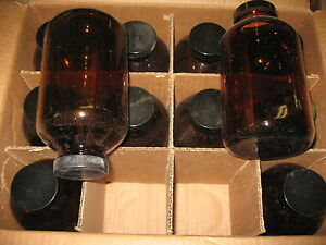 Kimble Chase 1 000ml Amber Glass Bottle Pack Of 12