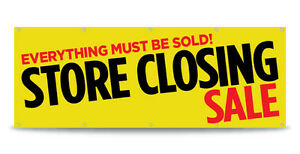 Store Closing Sale Banner Sign Going Out Of Business Vinyl Free Custom Text