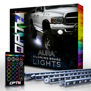 Led Aura Running Board Lights Opt7 Lighting For Trucks Jeeps Suvs 1 Remote