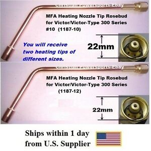Mfa Heating Nozzle Tips Rosebud For Victor And Victor type 300 Series No 10 12