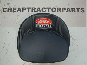 8n Naa 601 801 2000 4000 Ford Tractor Black Seat Cover With Piping And Logo