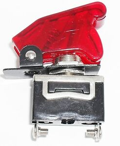 1 Spst On off Full Size Toggle Switch With Transparent Red Safety Cover