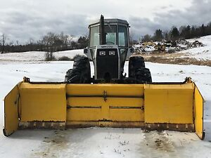White 2 155 Tractor 4 wheel Drive Fwa Snowplow Ssta 13 Snow Pusher Box Blade