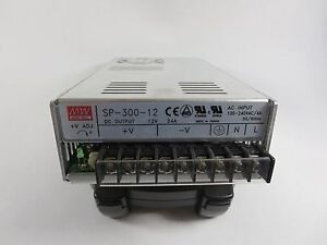 Meanwell Sp 300 12 Dc Power Supply Out 12 Vdc 24 Amps In 100 240 Vac 50 60 Hz