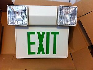 Led Emergency exit Sign Green Wall Mnt no Battery heavy Duty Md In Canada
