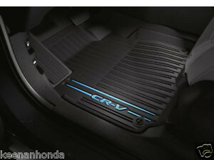 Genuine Oem Honda All New Cr v Black blue All Season Floor Mat Set Mats 17 18