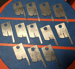 Eubanks 032 Guide Wire Stripping Blade Set 2600 Blades 00156 Cut Awg Gauge Lot