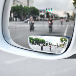 2x Universal Car Auto 360 Wide Angle Convex Rear Side View Blind Spot Mirror