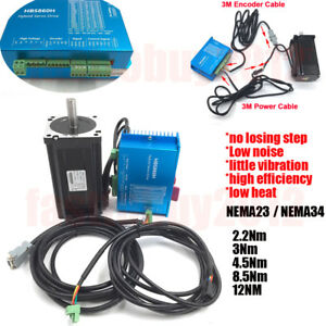 Closed Loop Stepper Motor hybrid Servo Drive Kit Nema34 23 12nm 8 5nm 4 5nm 3nm