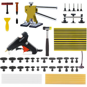 Pdr Kit Puller Dent Lifter Hail Removal Pulling Tab Hammer Paintless Repair Tool