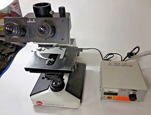 Leitz Laborlux S Microscope W periplan 10x 18 Eyepieces W 050 263 Light Source