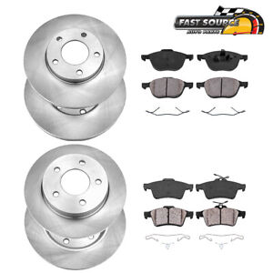 For 2006 2007 2008 2009 2010 2011 2012 Mazda 3 Front Rear Rotors Ceramic Pads