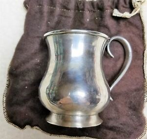 Pure Silver Coin J B Jones 4 Inch Cup 1832 1834