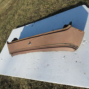 1957 58 Ford Fairlane Rear Window Glass Deck Panel Between Trunk W Nos Paint