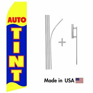 Auto Tint Econo Flag 16ft Advertising Swooper Flag Kit With Hardware