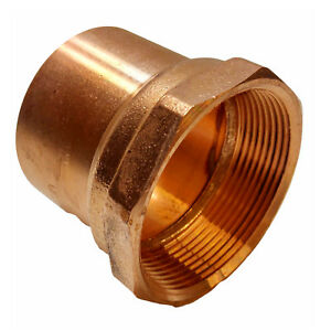 1 Threaded Female Adapter Fip X C bag Of 10 Copper Pipe Fitting
