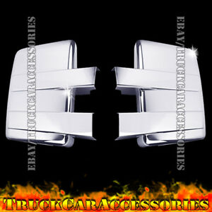 For Ford F150 2009 2010 2011 2012 2013 2014 Chrome 2 Full Towing Mirror Covers